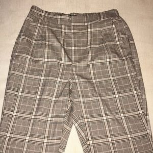 ASOS high waisted plaid pants